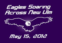 eagles soaring across new ulm tshirt